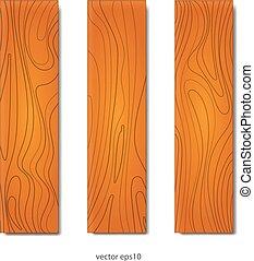 木, セット, 板