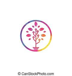 木, テンプレート, ロゴ, design., 技術