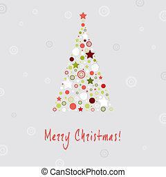 木, デザイン, クリスマスカード, 挨拶