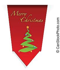 木, デザイン, クリスマス, イラスト