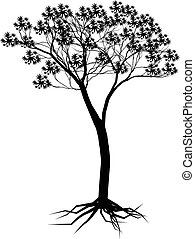 木, デザイン, シルエット, あなたの