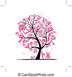 木, デザイン, 概念, 買い物, あなたの