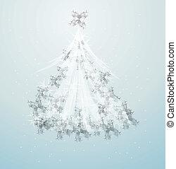 木, デザイン, 芸術的なイラスト, クリスマス