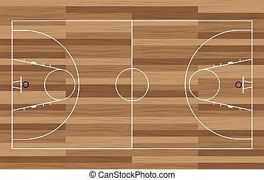 木, バスケットボールコート