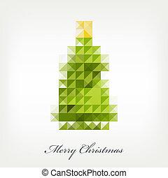 木, ピクセル, クリスマス