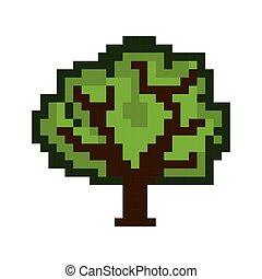 木, ピクセル, 数字
