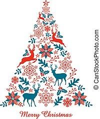 木, ベクトル, クリスマス