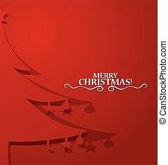 木, ベクトル, クリスマス, illustration.