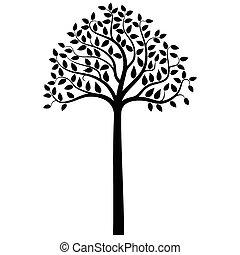 木, ベクトル, シルエット