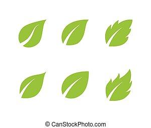木, ベクトル, 葉, テンプレート, アイコン
