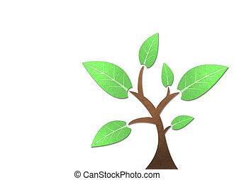 木, リサイクルされる, ペーパー, 技能, スティック, 白, バックグラウンド。
