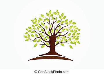木, ロゴ, シンボル, 生活
