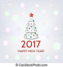 木, 優雅である, 背景, 年, 新しい, クリスマス