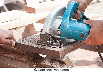 木, 切断, 鋸, 大工, 円