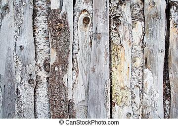 木, 古い, フェンス