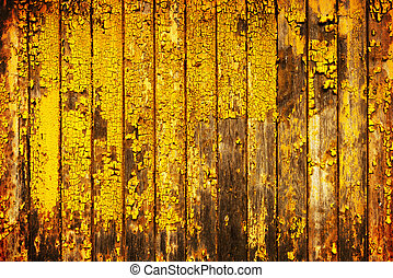 木, 古い, 黄色の背景