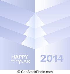 木, 幸せ, desig, 新しい, クリスマス, 年