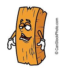 木, 怠け者である, ベクトル, 漫画, 丸太