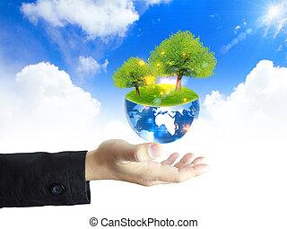 木, 手を持つ
