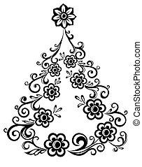 木, 抽象的, クリスマス
