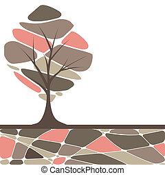 木, 抽象的, グランジ, 背景