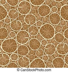 木, 木材を伐採する, 切口, seamless, パターン, 背景