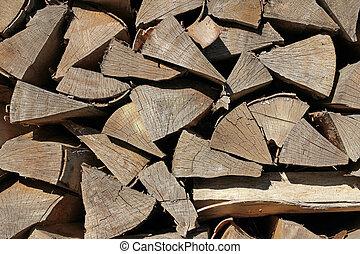 木, 木材を伐採する, 背景