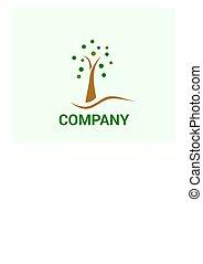 木, 概念, デザイン, ロゴ