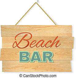 木, 浜, 板