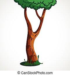 木, 漫画, イラスト