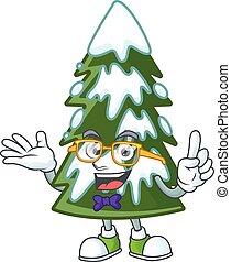 木, 痛みなさい, 漫画, マスコット, クリスマス, 雪, 面白い, geek, スタイル, 極度