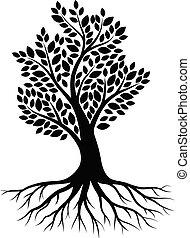 木, 白, シルエット, 背景
