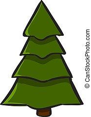 木, 白, バックグラウンド。, ベクトル, クリスマス, イラスト
