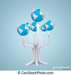木, 矢, 地球