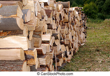 木, 積み重ねられた