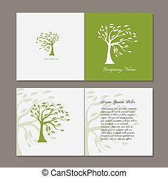 木, 緑, グリーティングカード