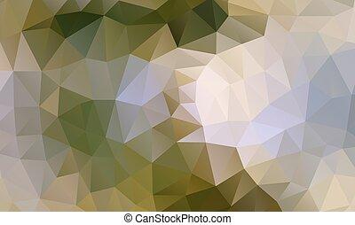 木, 緑, 多角形, 背景