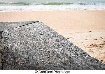 木, 背景, 手ざわり, 海