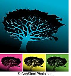 木, 背景, 4