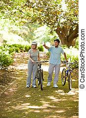 木, 自転車, 恋人, ∥(彼・それ)ら∥