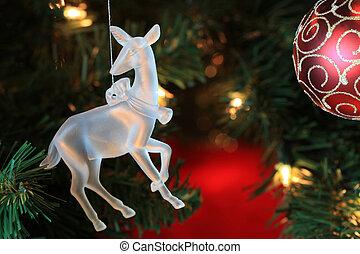 木, 装飾, 魅力的, クリスマス