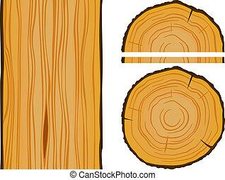 木, 要素, 手ざわり, 材木