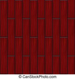 木, 赤, 寄せ木張りの床