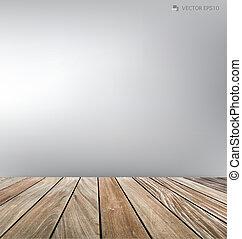 木, 部屋, floor., ベクトル, 空, illustration.