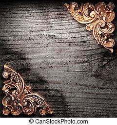 木, 金, 装飾