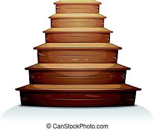 木, 階段