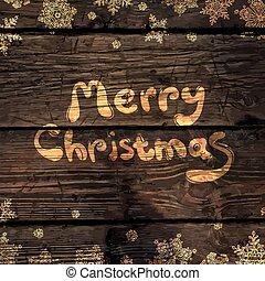 木, 雪片, 金, 抽象的, 挨拶, 手ざわり, バックグラウンド。, ベクトル, イラスト, クリスマスカード, 照ること