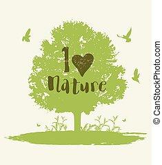 木, 鳥, 背景