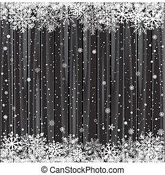 木, 黒, 雪, 背景