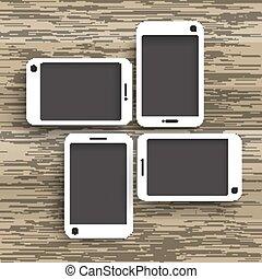 木, 4, 背景, smartphones